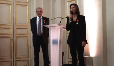Martine Bocquillon, président de Point Service Mobiles, vient de recevoir la légion d'honneur
