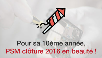 Pour sa 10eme année, PSM clôture 2016 en beauté !